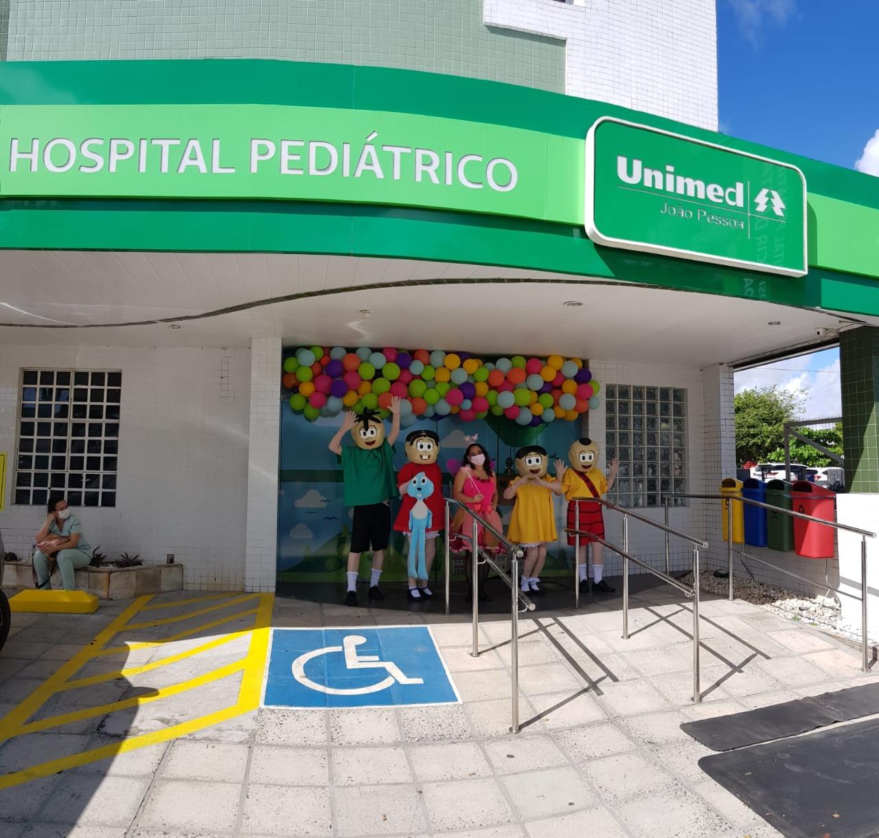 Hospital pediátrico da Unimed João Pessoa faz surpresa aos pacientes no Dia das Crianças